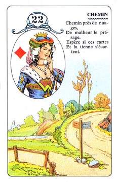 22  Crossroads / Queen of Diamonds (Lenormand card meanings